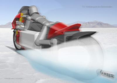 モビテック様EVボンネビルチャレンジプロジェクト、スケッチのイメージ